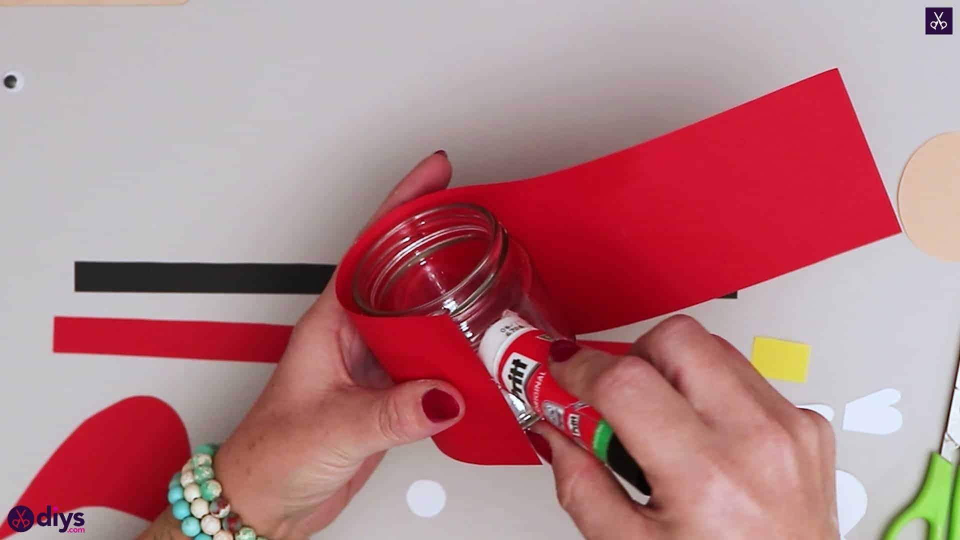 Paper santa candy holder step 10