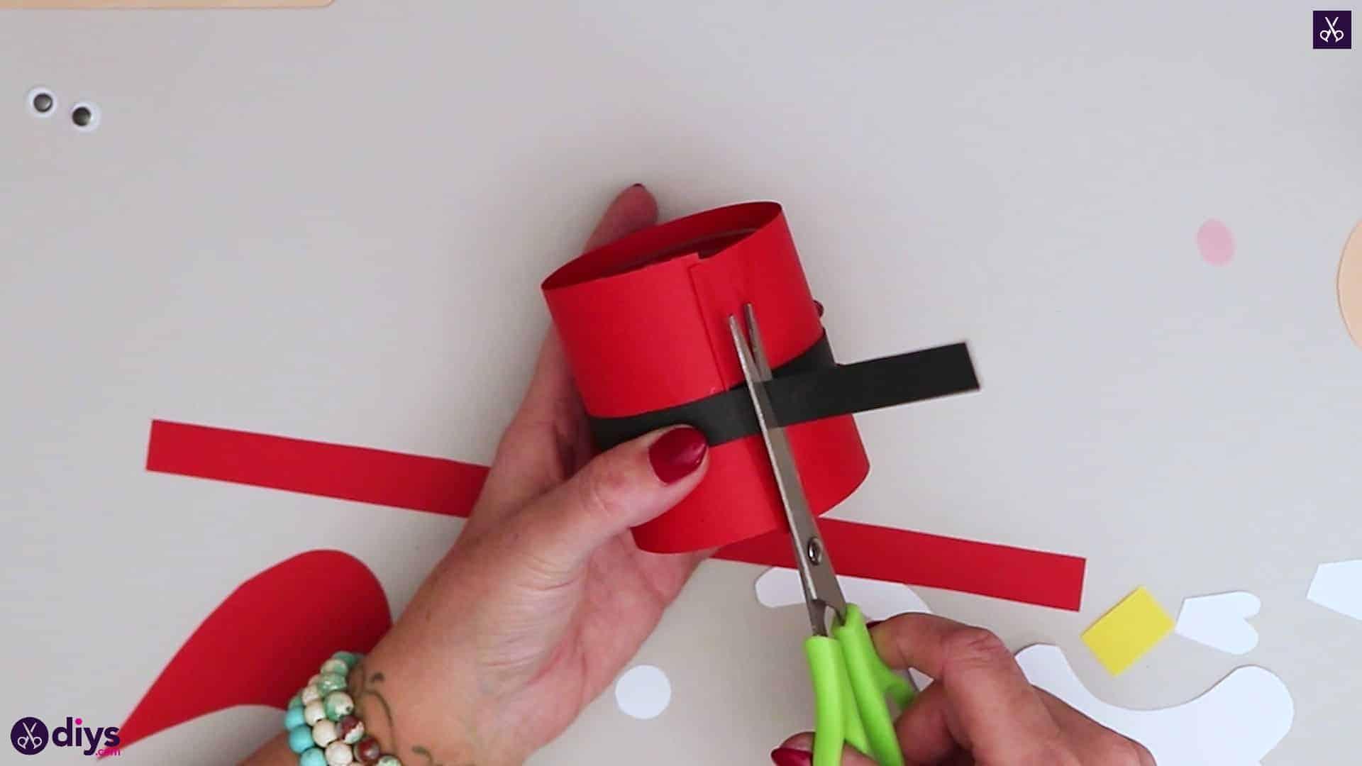 Paper santa candy holder step 11c