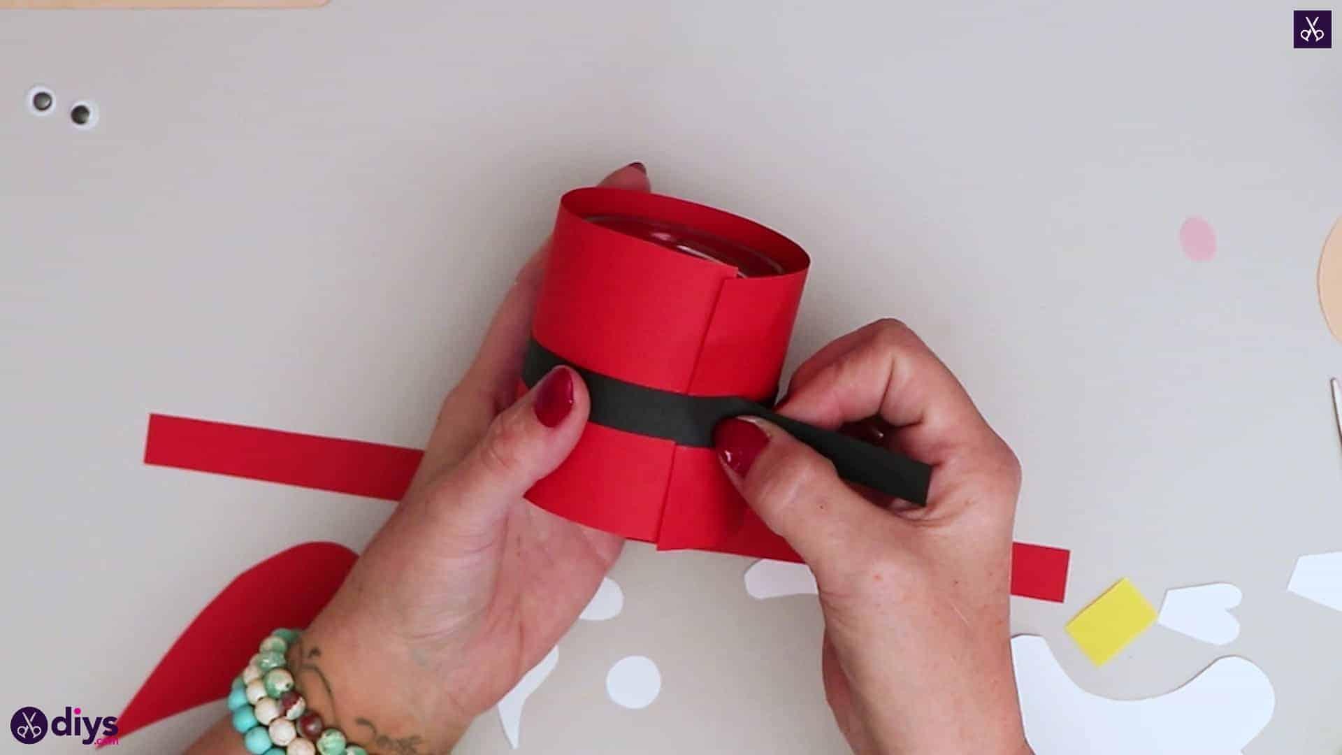 Paper santa candy holder step 11d