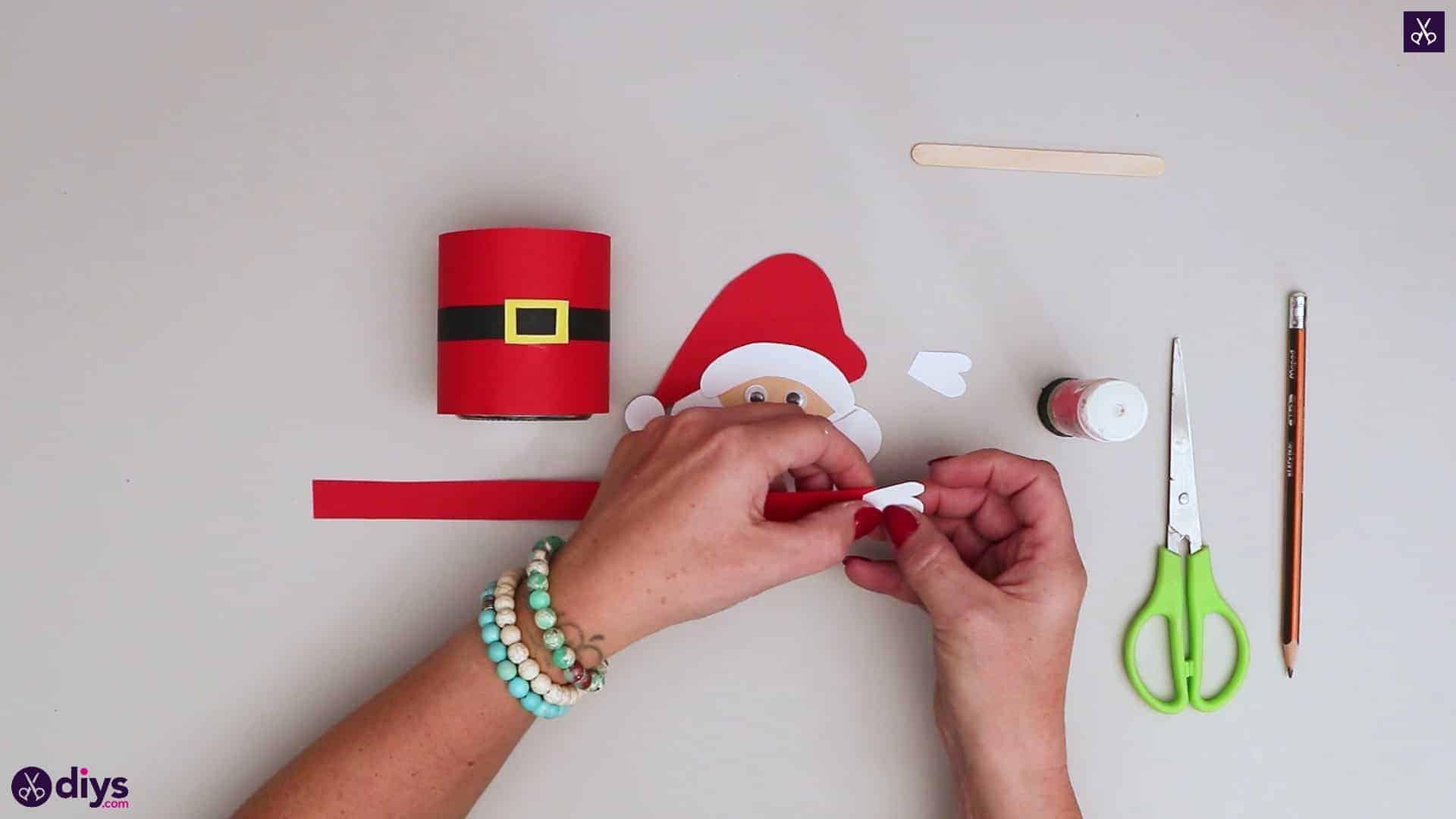 Paper santa candy holder step 14