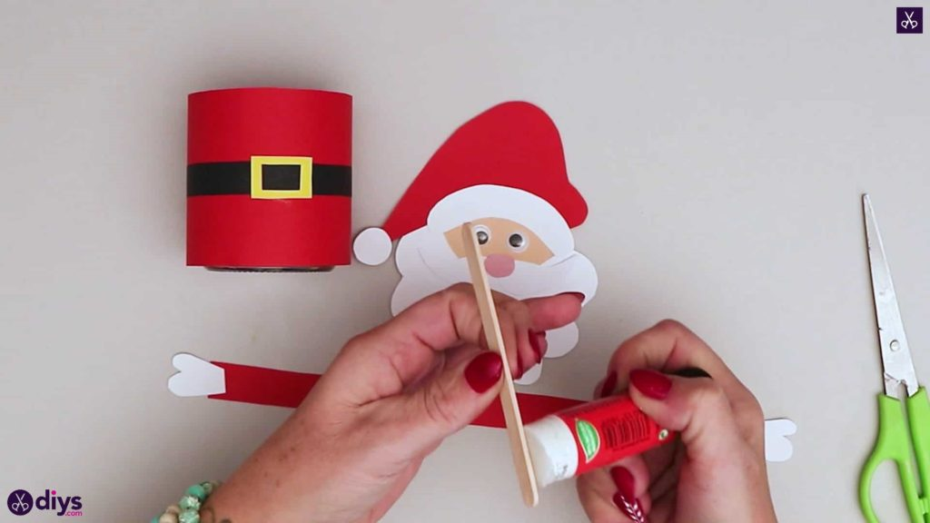 Paper santa candy holder step 15