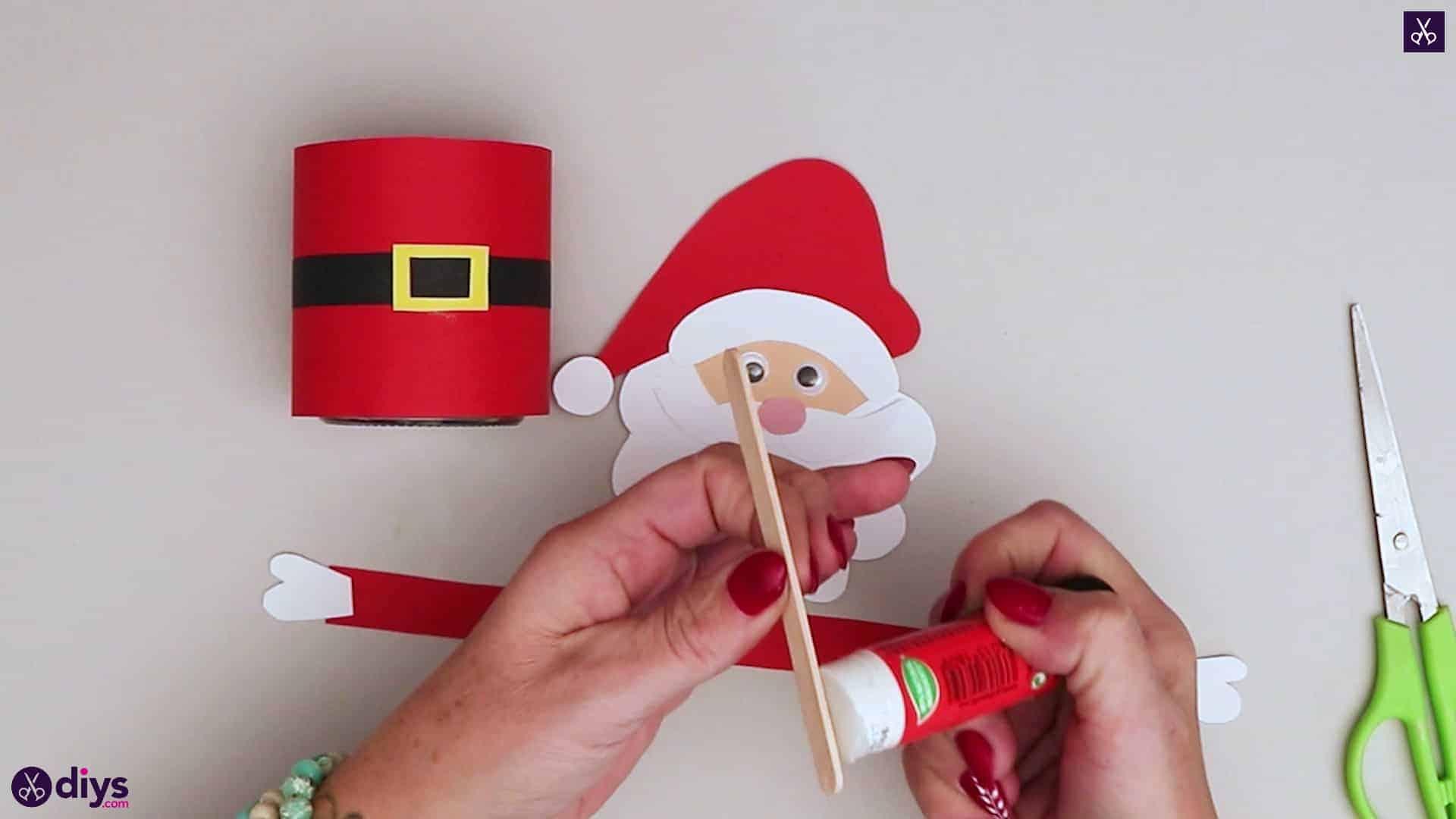 Paper santa candy holder step 15