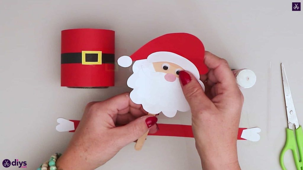 Paper santa candy holder step 15b