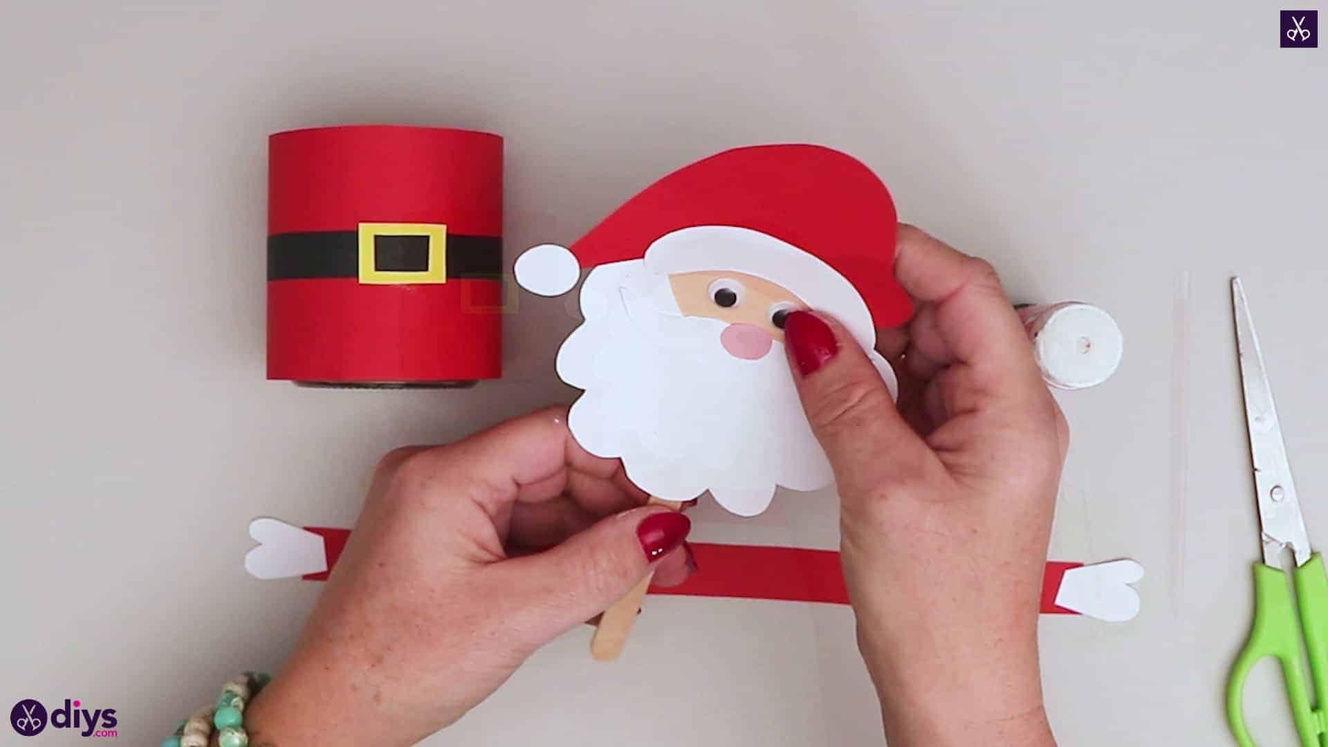 Paper santa candy holder step 15b