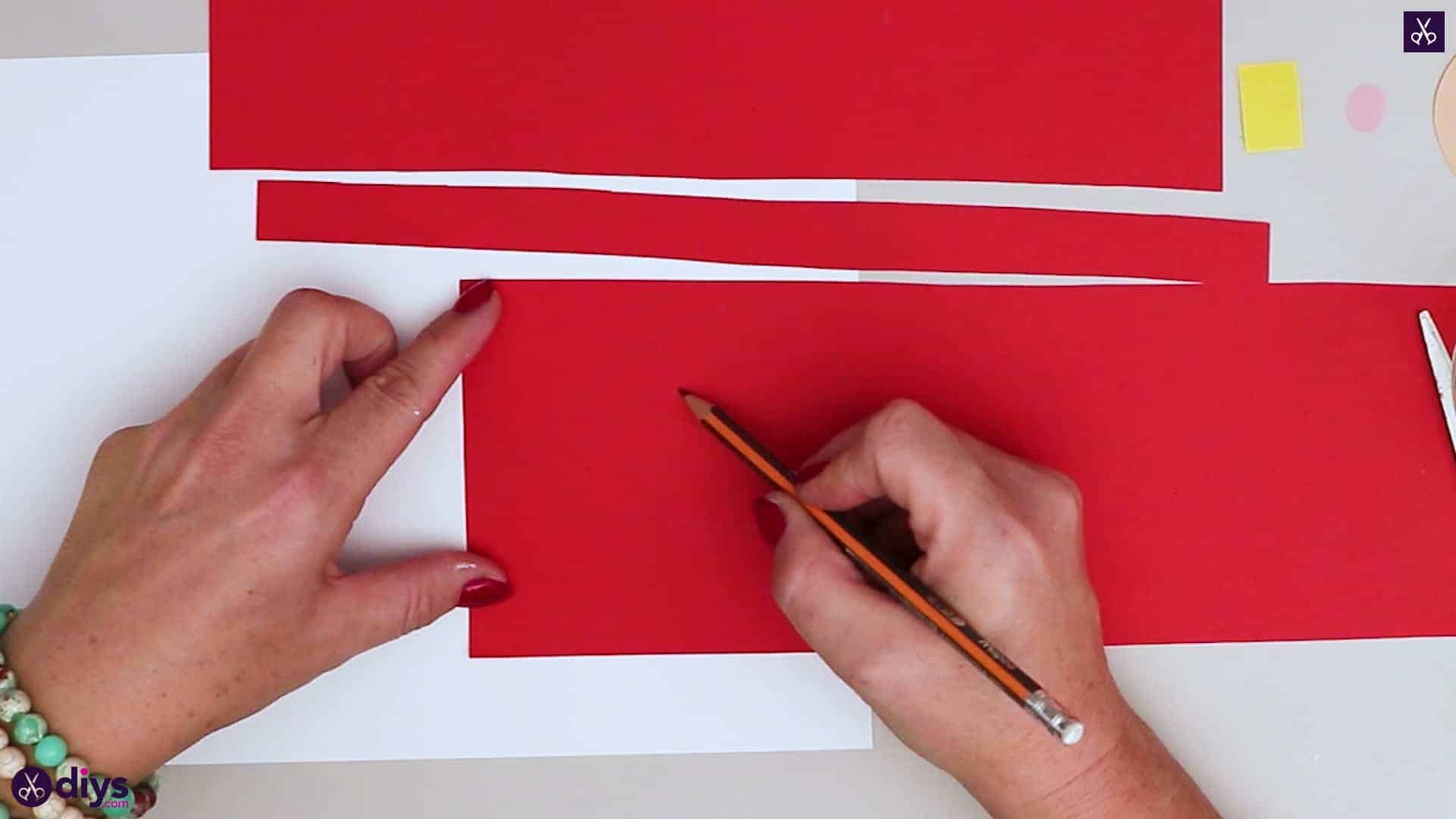 Paper santa candy holder step 8