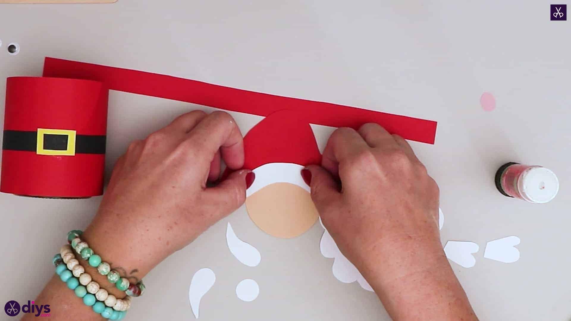 Paper santa candy holder white paper