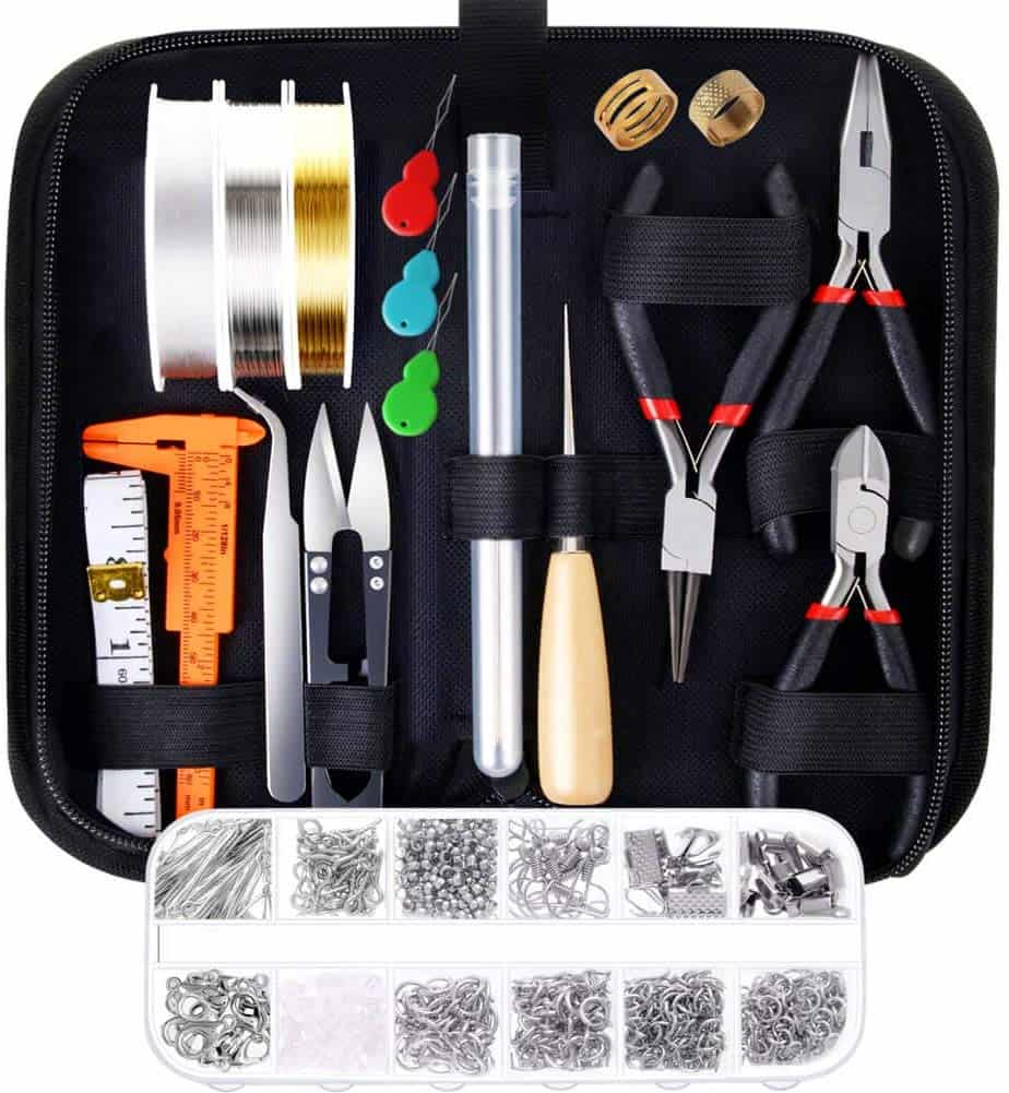 Paxcoo jewelry making supplies kit with jewelry tools