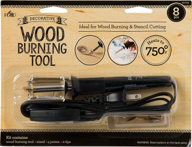 Plaid wood burning & steel cutting tool