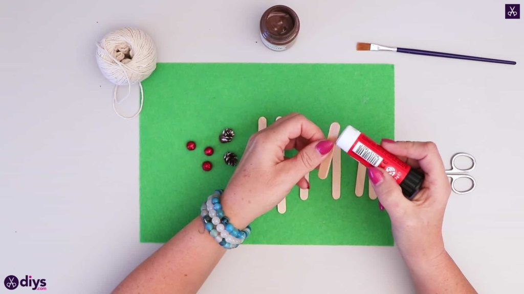 Popsicle stick sledge glue all