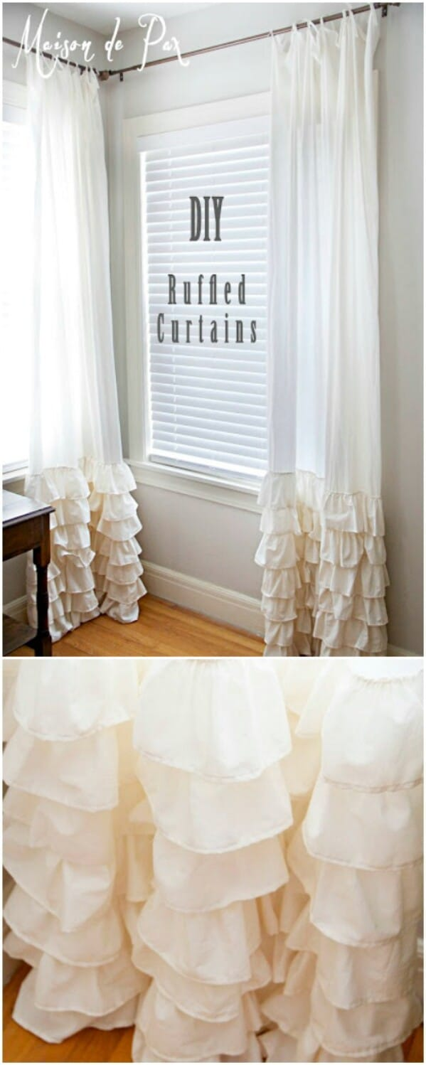 Pretty ruffled curtains