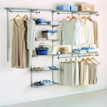 Rubbermaid configurations deluxe custom closet system kit