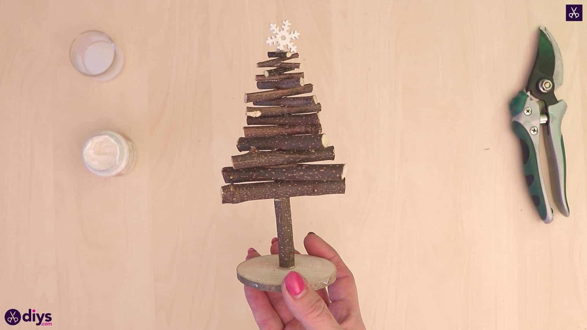 Rustic diy twig christmas tree