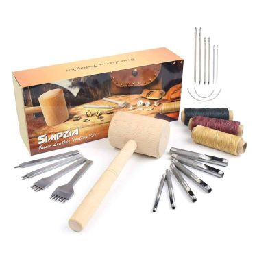 Simpzia leather hand stitching tools kit