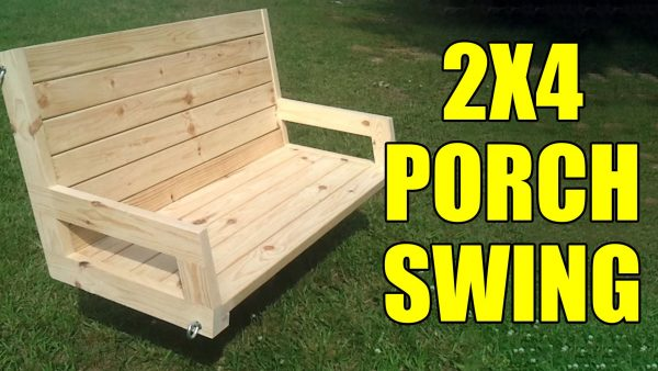 Simple 2×4 porch swing