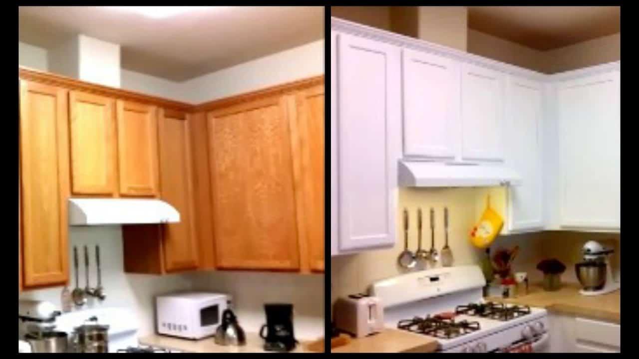 Super affordable white cabinet makeover