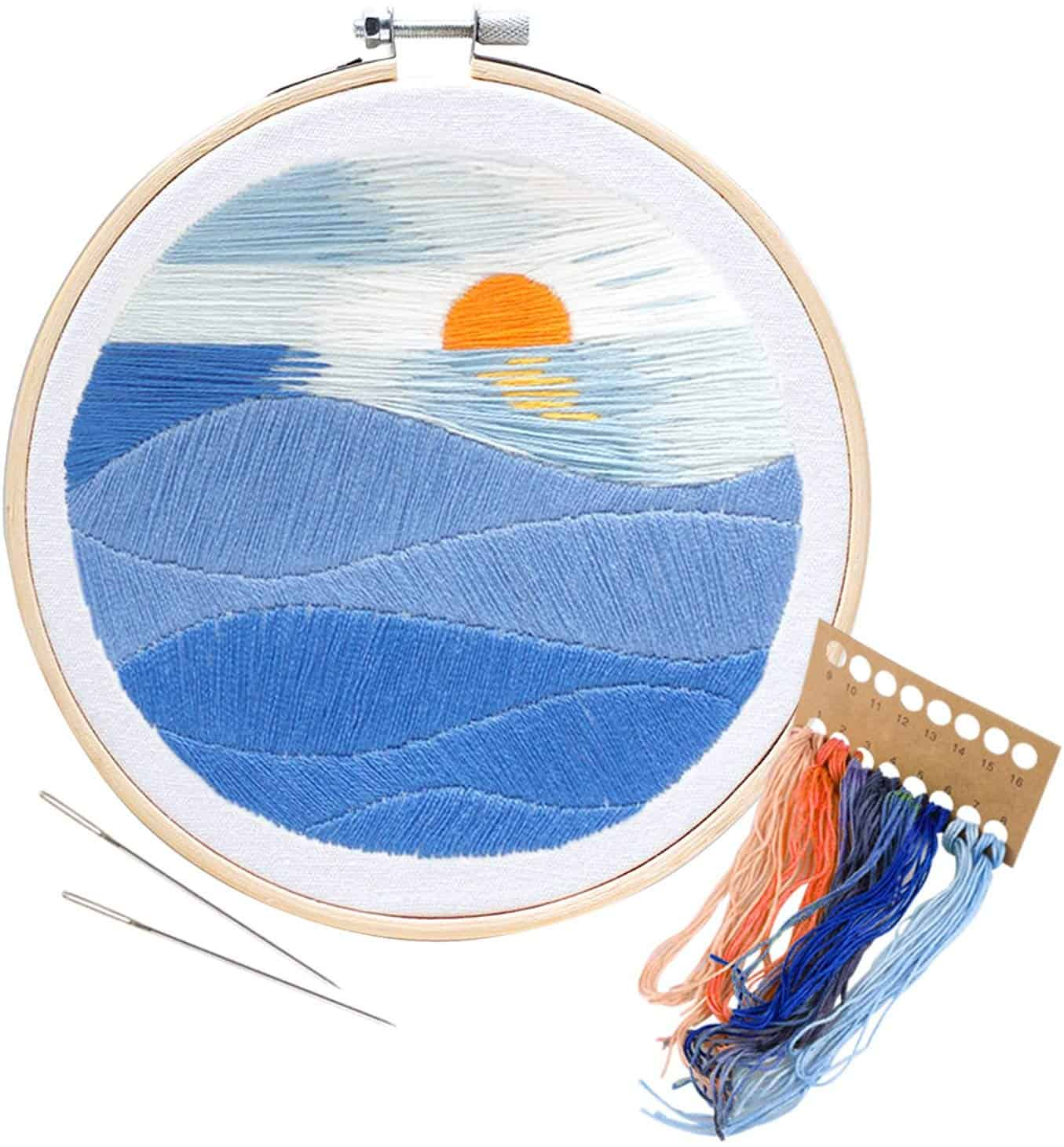 Unime sunset embroidery starter kit