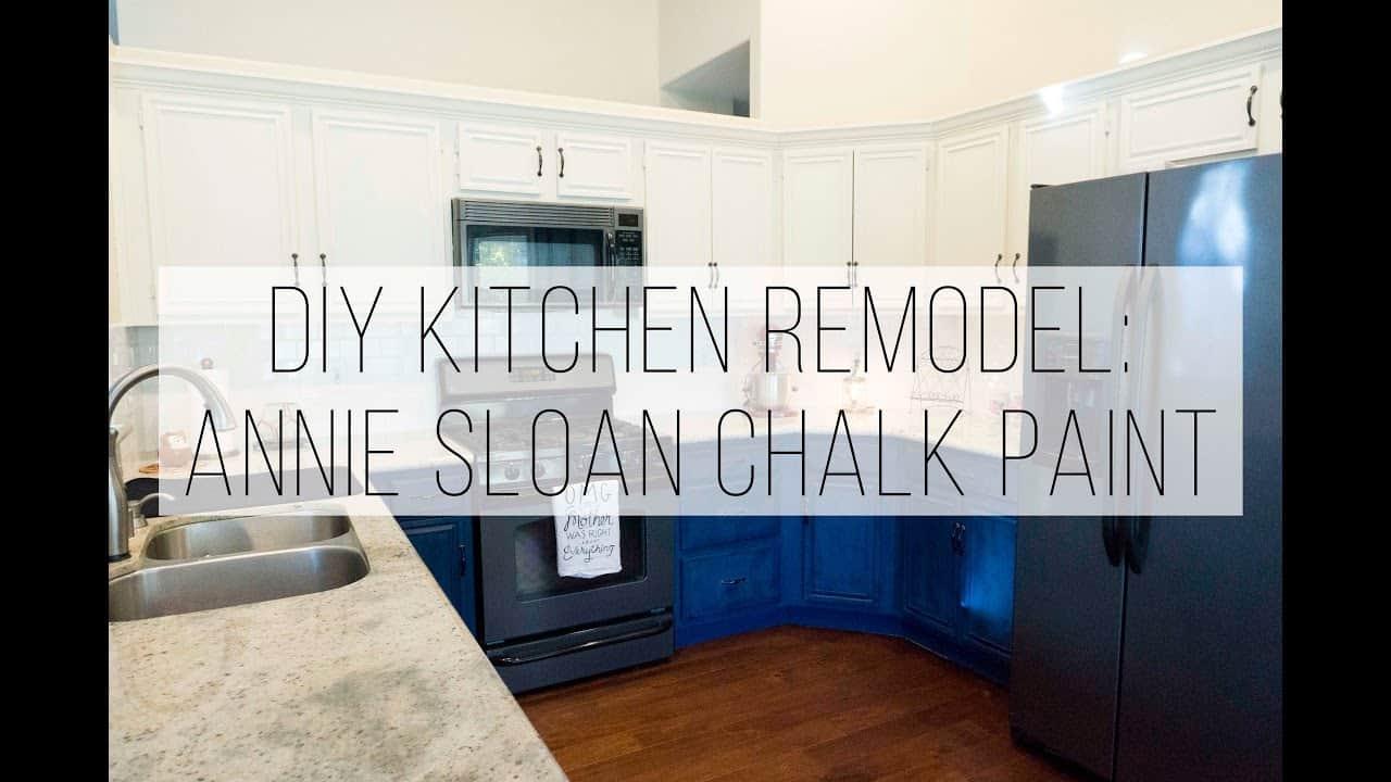 White chalk paint kitchen cupboards
