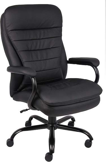 Boss office products heavy duty double plush leatherplus chair