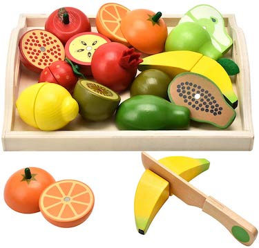 Carlobro pretend play food set