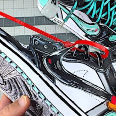 Cartoon style custom kicks