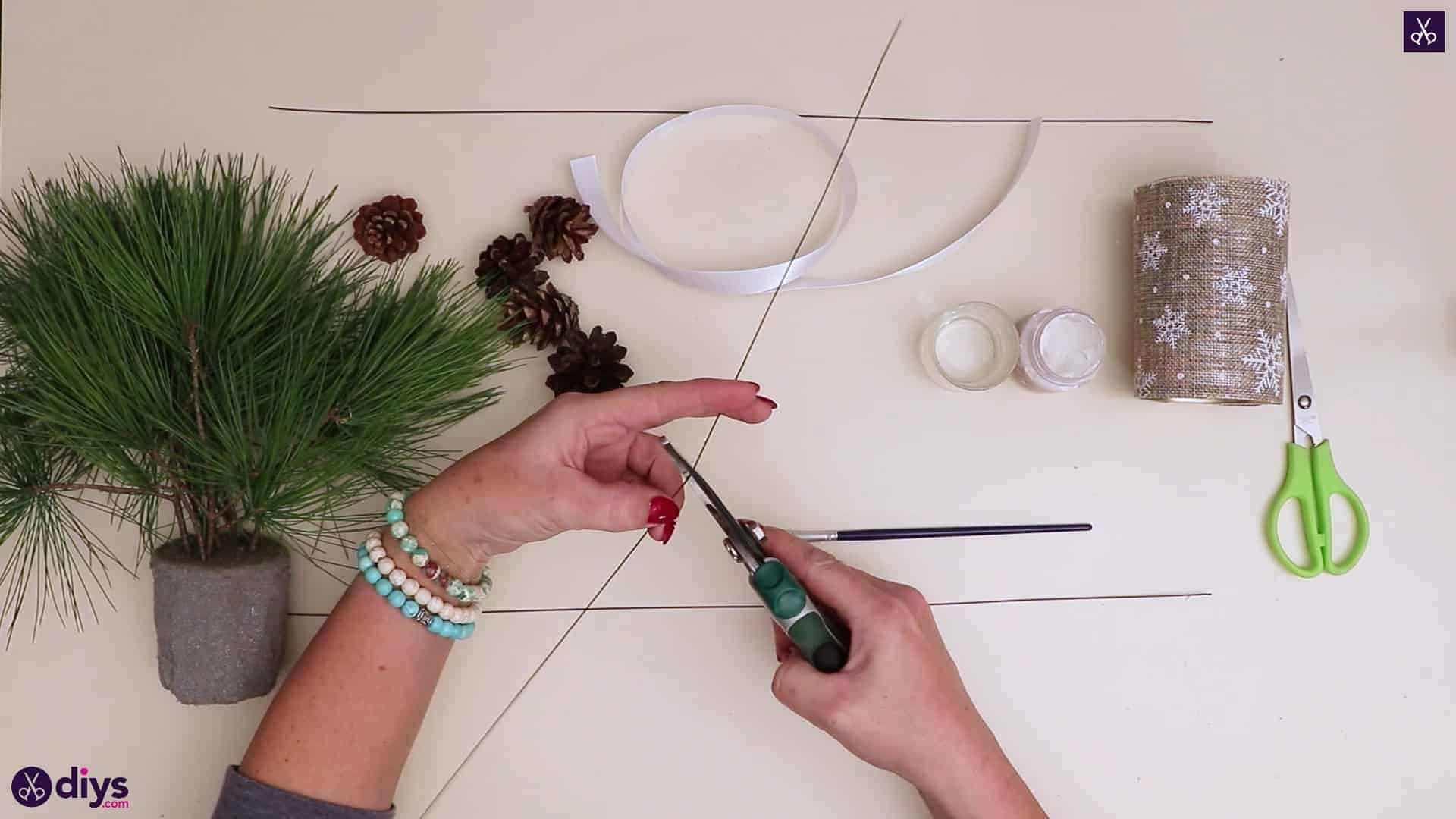 Christmas tree table decoration string