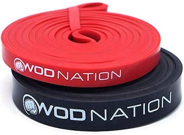 Click image to open expanded view wod nation pull up assistance bands best for pullup assist, chin ups, resistance band exercise, stretch, mobility bench work & serious fitness