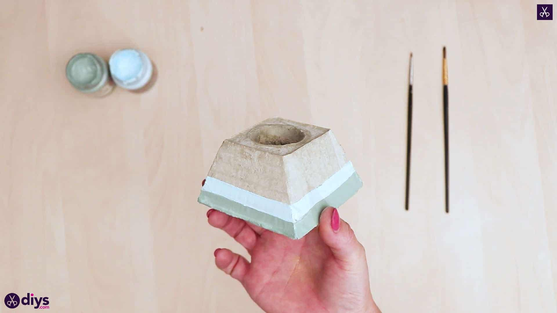 Concrete hair clip container display