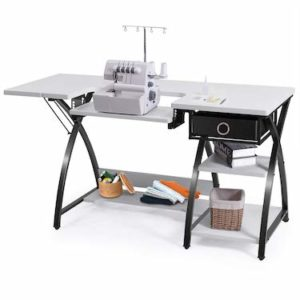 Costway Adjustable Sewing Craft Table with Drawer
