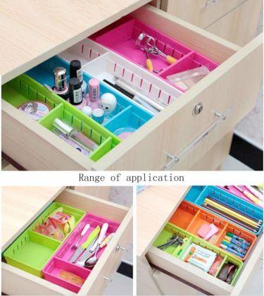 Creative storage drawer organizers