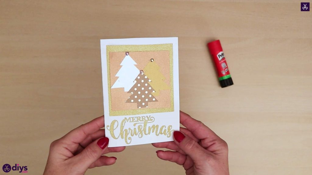 Diy christmas tree card