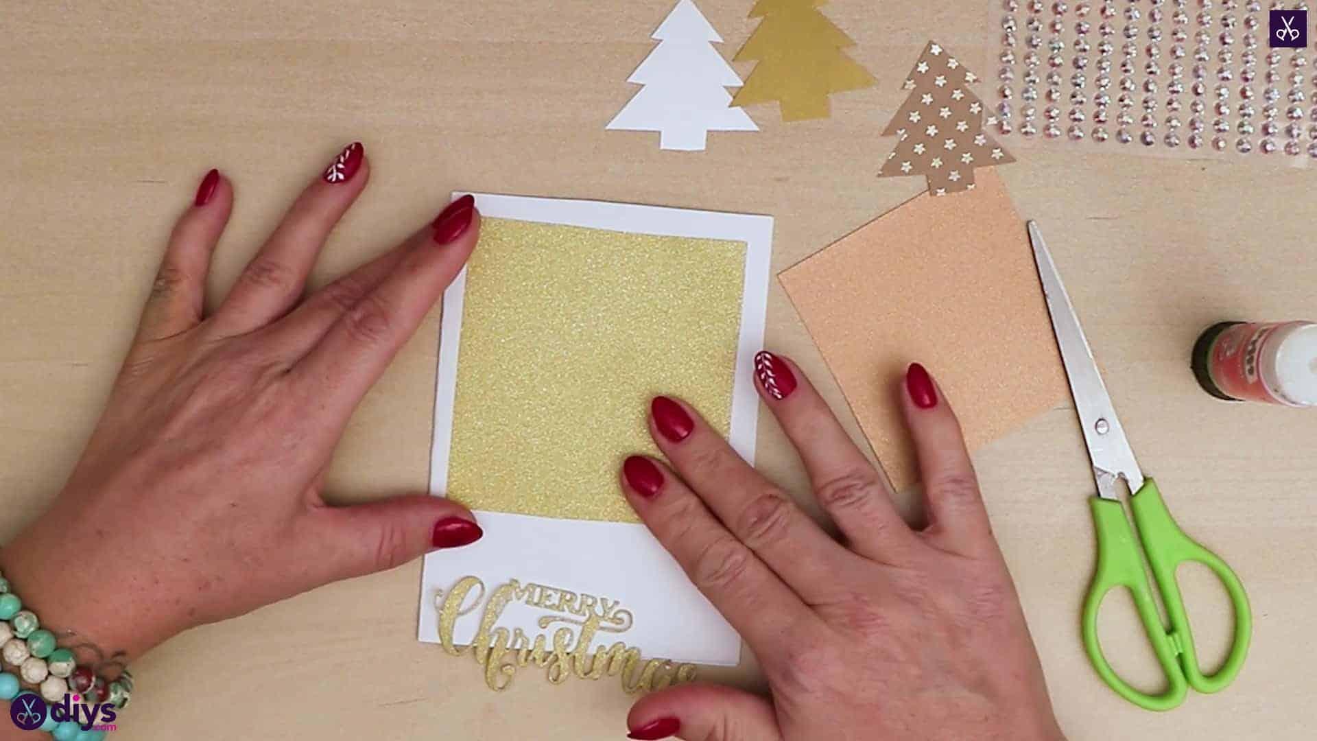 Diy christmas tree card attach rectangular