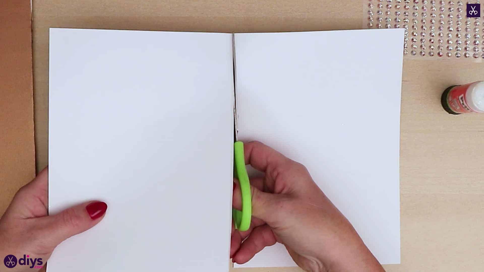 Diy christmas tree card cut paper