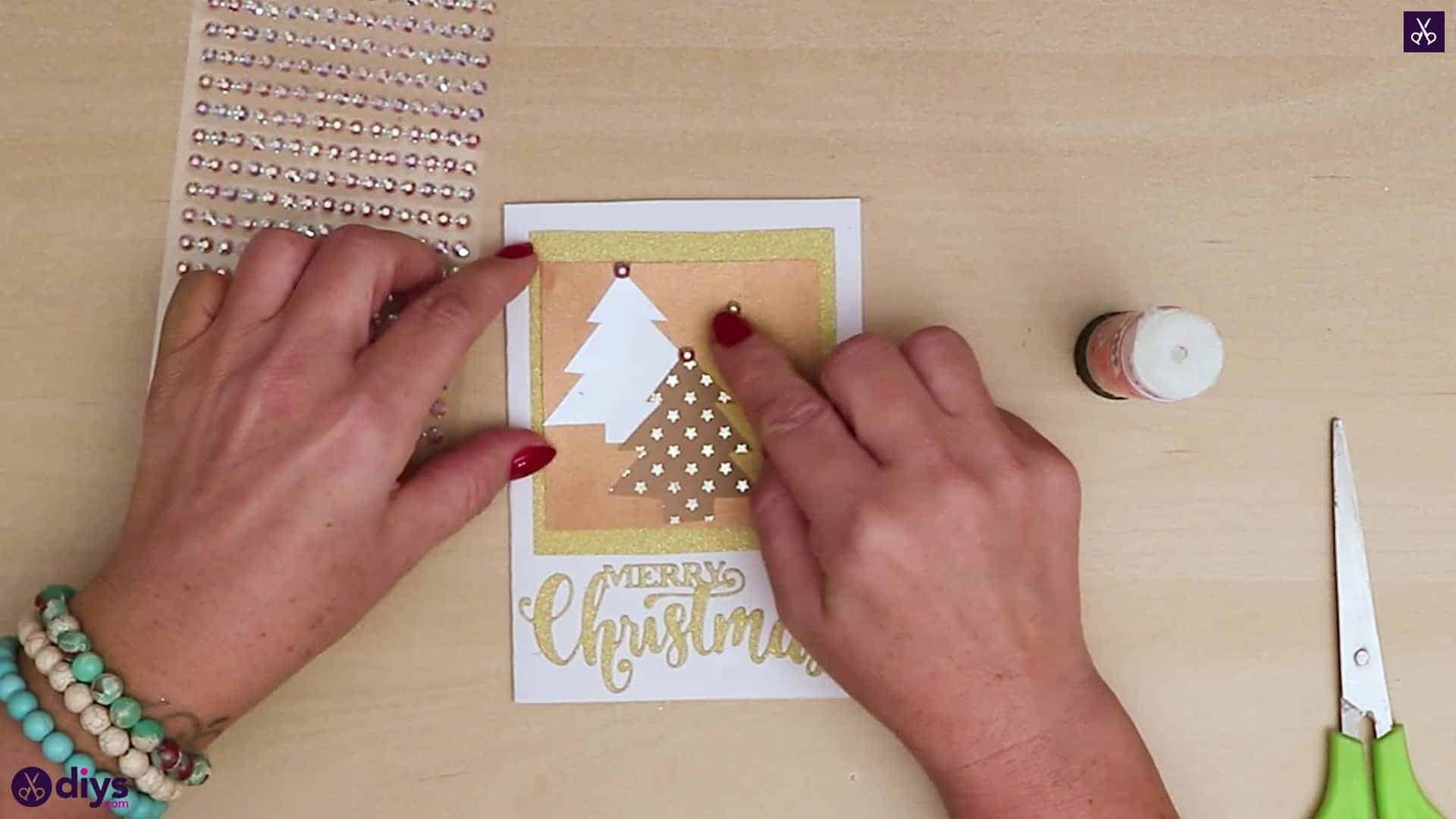 Diy christmas tree card for holiday