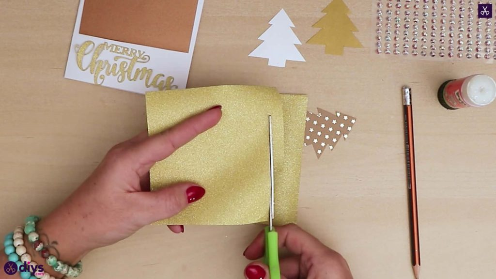 Diy christmas tree card glidder