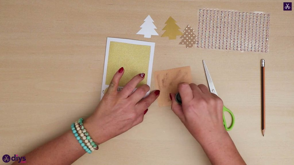 Diy christmas tree card more sti