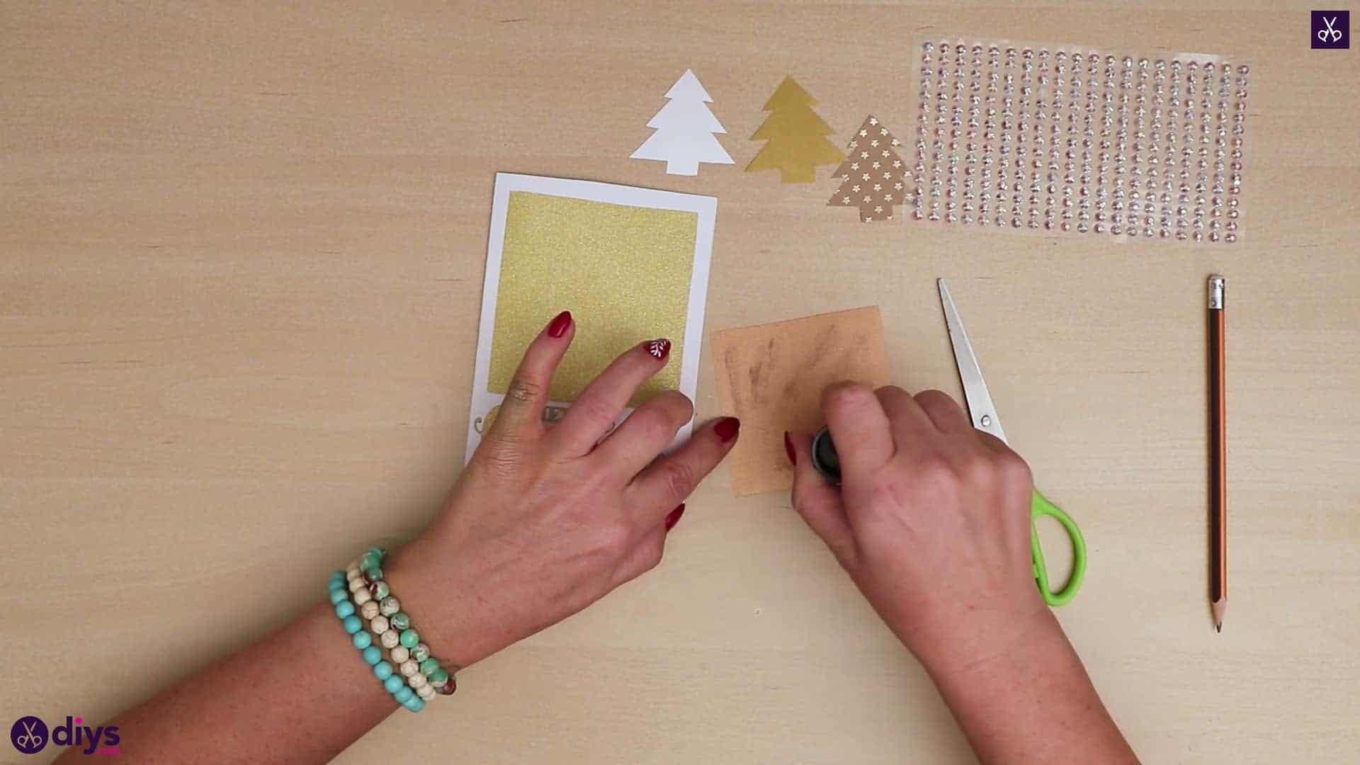 Diy christmas tree card more sti
