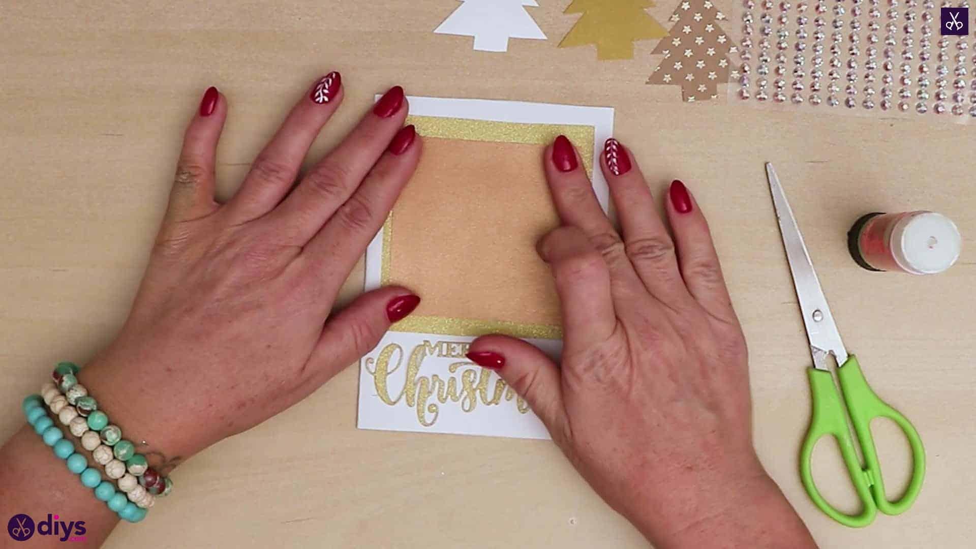 Diy christmas tree card press