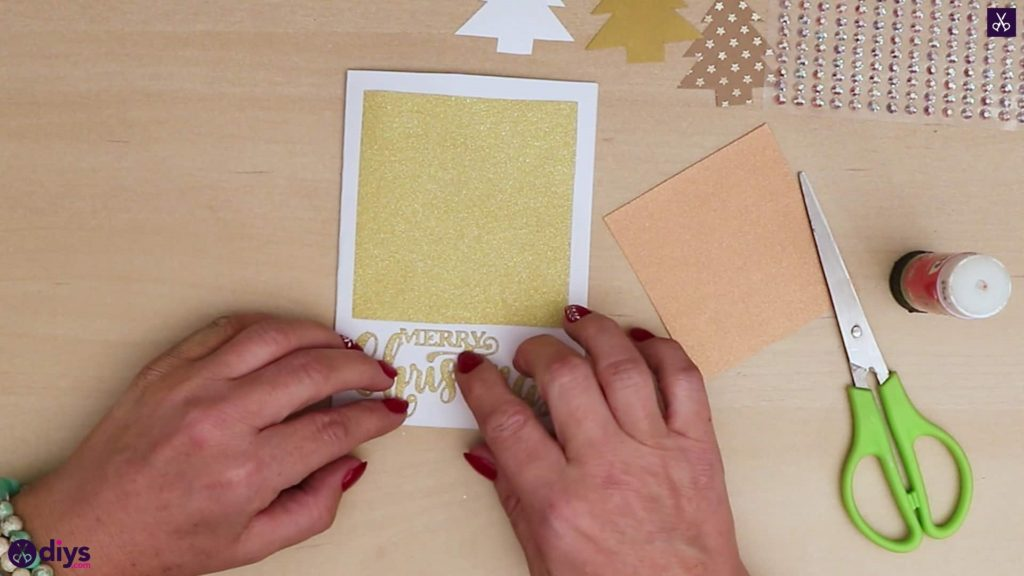 Diy christmas tree card tree