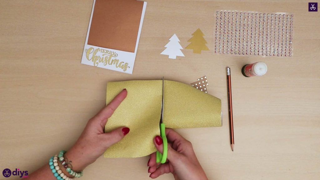 Diy christmas tree card wraper
