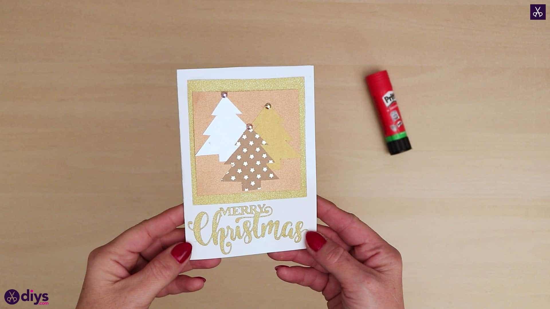 Diy christmas tree card