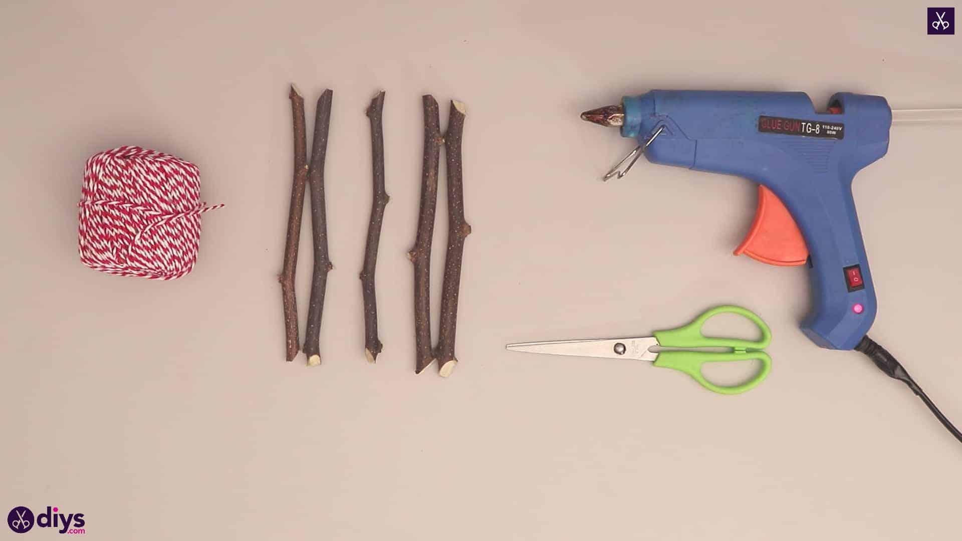 Diy twig star craft materials