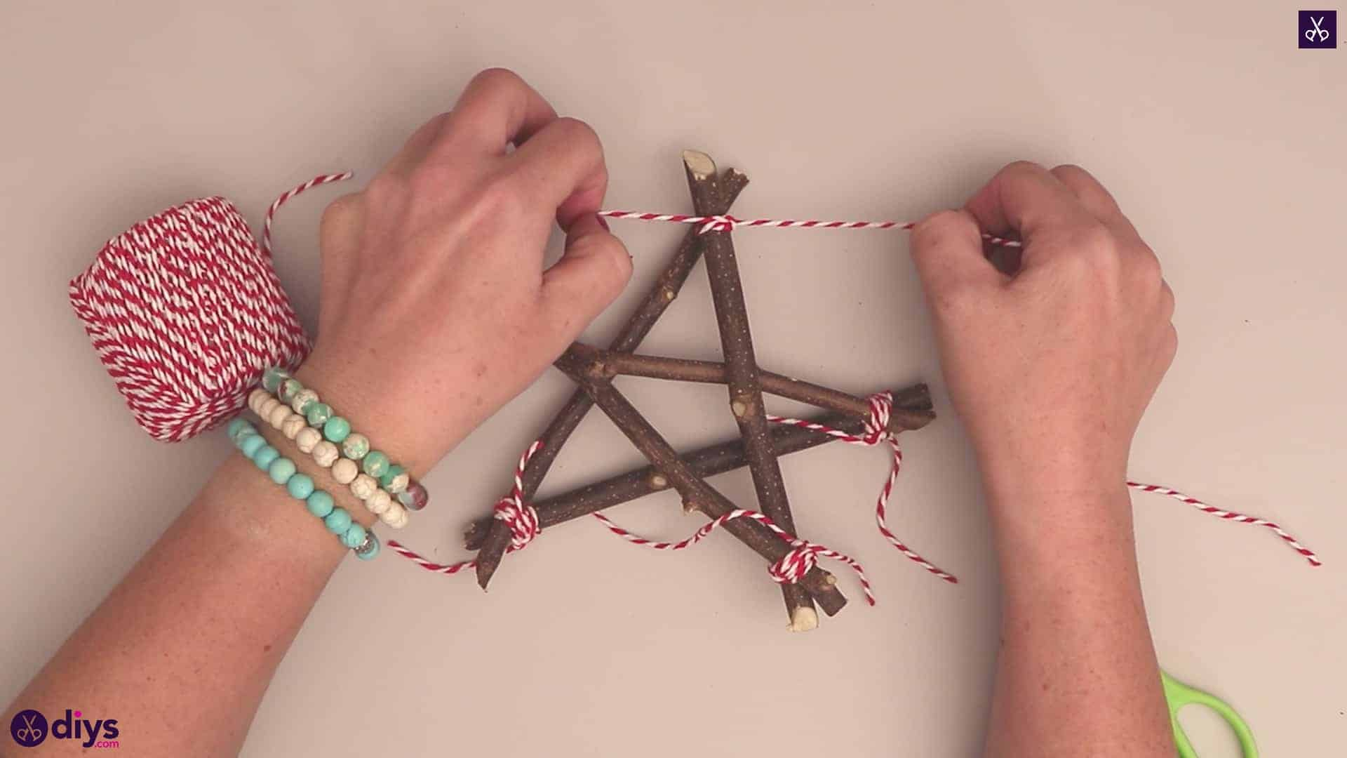 Diy twig star craft step 6a
