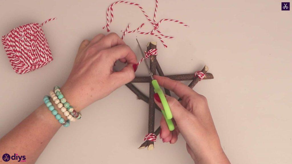 Diy twig star craft step 7