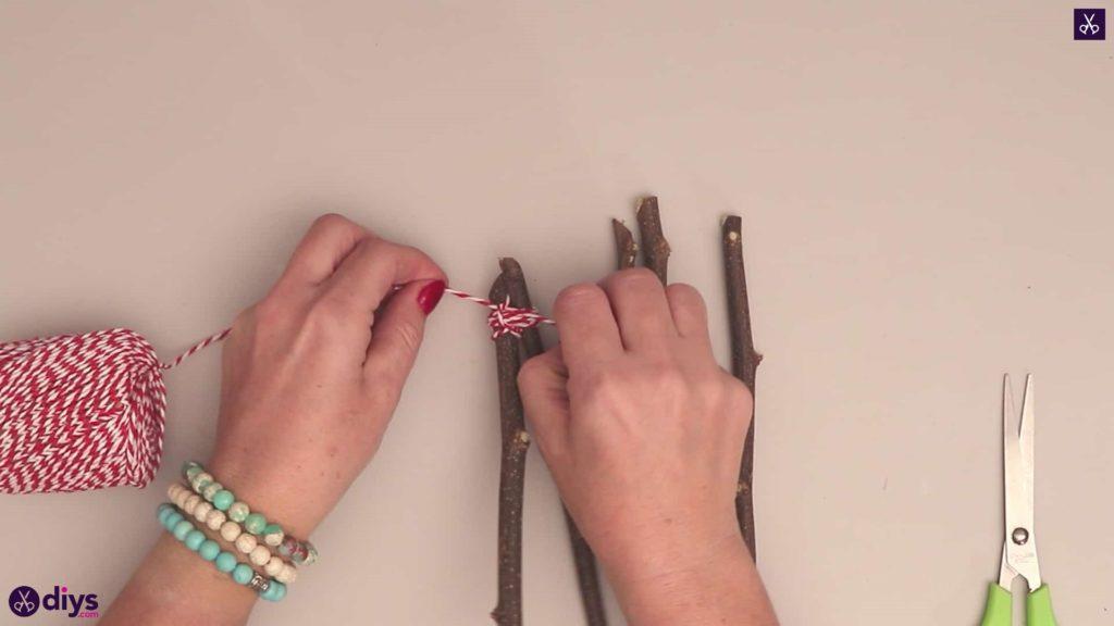 گره stong ستاره صنایع دستی Diy twig