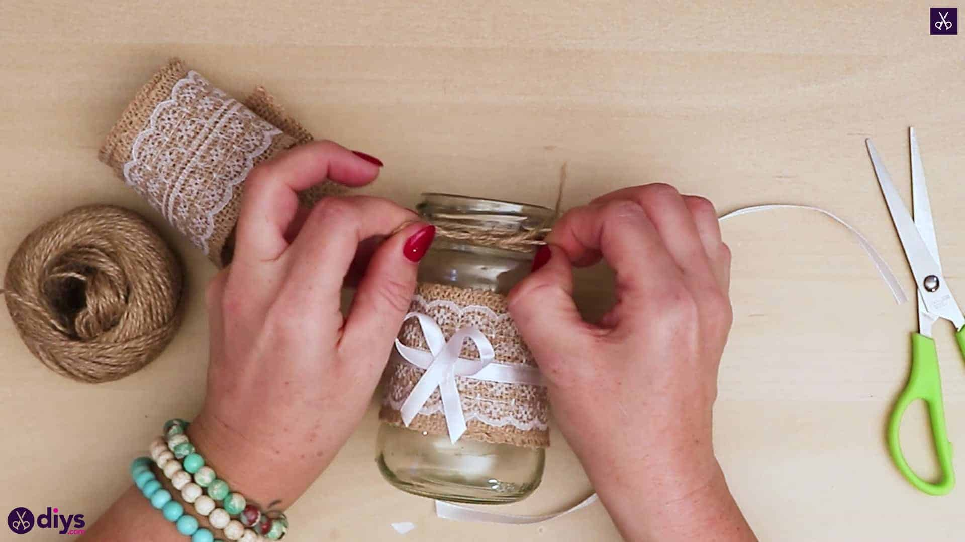 Diy vintage mason jar craft bow string