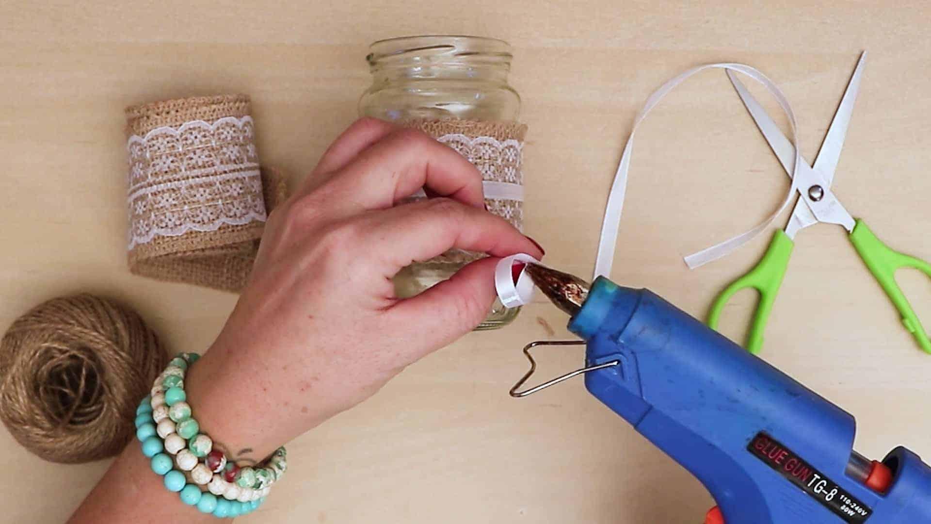 Diy vintage mason jar craft bow