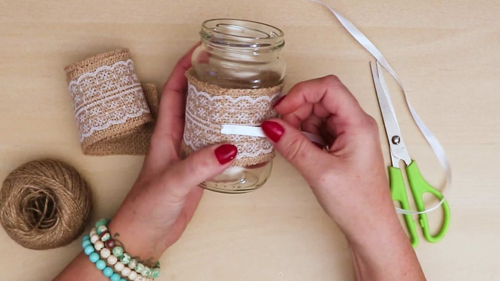 Diy vintage mason jar craft ribbon