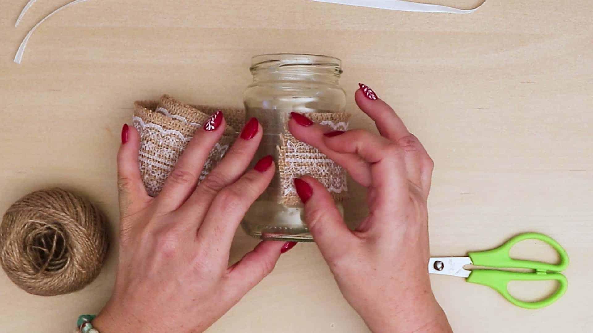 Diy vintage mason jar craft rustic