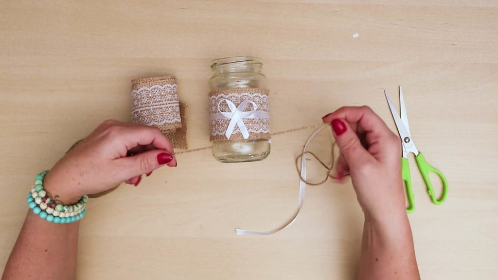 Diy vintage mason jar craft string