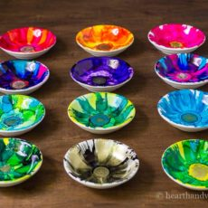 Diy alcohol ink jewelry dishes